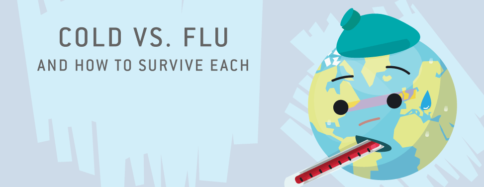 Cold Vs. Flu, and how to survive each